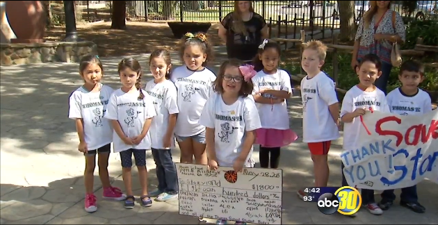 Kindergarteners Donate $1,800 To Fresno's Storyland-Playland